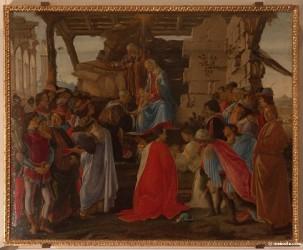 L'Adoration des Mages, Alessandro di Mariano dei Filipepi (Sandro Botticelli) 1475