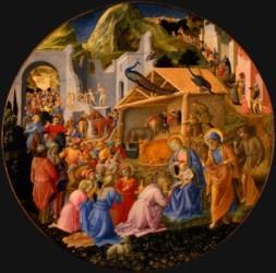 Adoration des Mages, Fra Angelico and Fra Filippo Lippi, 1440\/4460