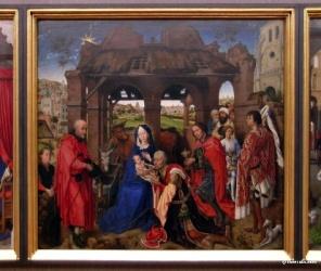 L'Adoration des Mages,  Rogier van der Weyden, vers 1455