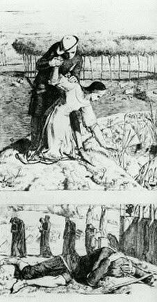 """Illustration de Holman Hunt au poème de Thomas Woolner: """"My Beautiful Lady"""", publié dans """"The Germ"""", 1850"""
