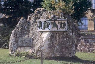 Mémorial de Roland à Roncevaux (nord de l'Espagne).