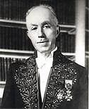 Louis de Broglie (1892-1987), fut reçu à l'Académie française en 1945.