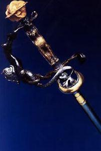Epée de l'académicien Arnaud d'Hauterives.