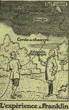 Le cerf-volant de Benjamin Franklin.
