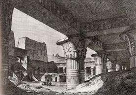 Intérieur deu temple d'Apollinnopolis, à Edfou.