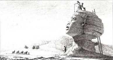 """Denon: """"Le Sphinx près des pyramides"""""""