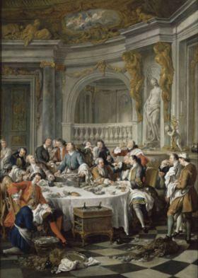 Le Déjeuner d'huîtres par Jean François de Troy