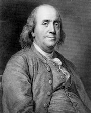 Benjamin Franklin (1706 -1790) fut  élu Associé étranger de l'Académie royale des sciences le 16 août 1772.
