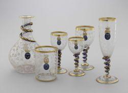 Service de verrerie au chiffre du duc d'Aumale, verre de Bohème