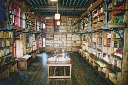 Bibliothèque du château d'Abbadia.