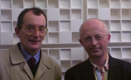 Ghislain de Marsily (à gauche) est membre de l'Académie des sciences et hydrologue à l'Université Pierre et Marie Curie. Thierry Ruf est agro-économiste à l'Institut de recherche pour le développment (IRD).
