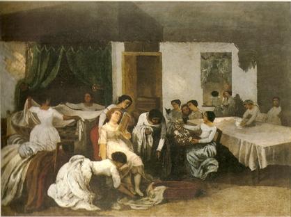 Gustave Courbet, La toilette de la morte.