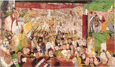 James Ensor, L'entrée du Christ à Bruxelles en 1889.