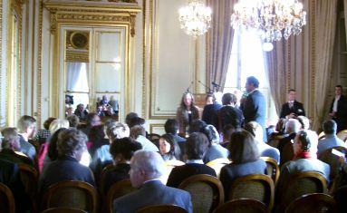 Remise du grand prix de la Fondation Prince Louis de Polignac, le 10 novembre 2006 à l'hôtel Crillon, à Paris