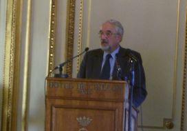 Jean Dercourt, secrétaire perpétuel de l'Académie des sciences.