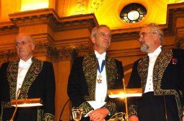 De gauche à droite, Jean-François Bach, Edouard Brezin, Jean Dercourt.