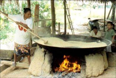 ...chauffé, transformé en farine, il devient propre à la consommation.