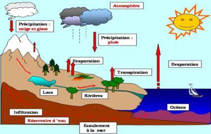 Rôle du climat sur la glace: le réchauffement climatique entraîne une intensification du cycle de l'eau, avec à la fois plus neige et plus de fonte.