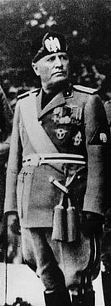 Benito Mussolini (Il Duce) (1883-1945). Il fit de l'Italie une dictature entre 1922 et 1943.