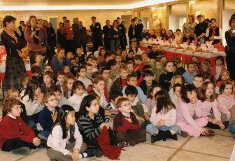 Les écoles primaires avaient fait le déplacement pouyr recevoir les Prix de la main à la pâte 2006.