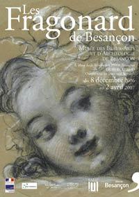 Affiche  de l'exposition Fragonard à Besançon (25).