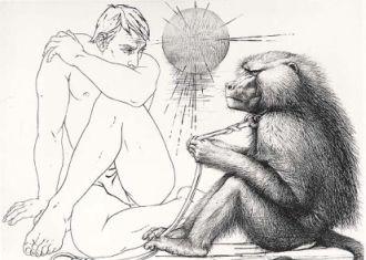 L'homme au singe