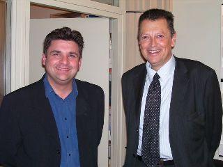 Christophe Dickès et Michel Vergé-Franceschi dans le studio de Canal Académie