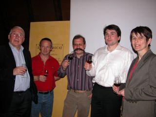De gauche à droite: Jacques Belleville, Bruno Vuittenez, Philippe Chatillon, Sébastien Roustel et Sylvie Morel