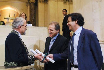 Jean Dercourt, Jacques Prost, Jean-François Joanny, le 13 juin 2007, sous la Coupole