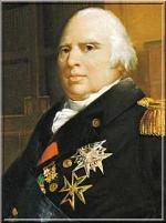 Le Roi Louis XVIII, petit-fils de Louis XV.