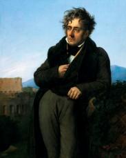 Portrait de Chateaubriand méditant sur les ruines de Rome, 1848