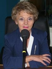 Mona Ozouf au micro de Canal Académie