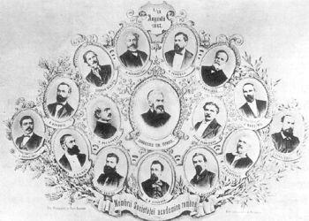 Membres de l'Académie roumaine en 1867