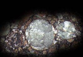 Silicates, fer et magnesium représentent plus de 90% des constituants des météorites pierreuses (chondrites), c'est une composition élémentaire proche de celle du soleil si l'on exclu les éléments légers (hydrogène, hélium).