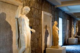 La galerie des Antiques à la villa Kérylos