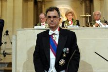 Emilio Marin, membre de l'Institut associé étranger de l'Académie des inscriptions et belles-lettres, le 23 octobre 2007, sous la Coupole