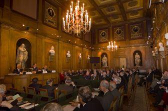 Rencontre des Académies européennes, grande salle des séances, 23 octobre 2007