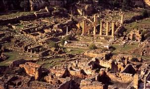 Site de Cyrène, vue d'ensemble du temple d'Apollon