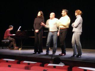"""Répétition du spectacle """"Sacha Guitry en chansons"""", auditorium de la Bibliothèque Nationale de France, le 22 novembre 2007"""