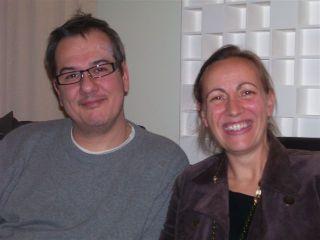 Christophe Mirambeau et Marianne Durand-Lacaze, studio de Canal Académie, le 22 novembre 2007