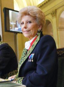 Hélène Carrère d'Encausse, secrétaire perpétuel de l'Académie française, le 29 novembre 2007, sous la Coupole