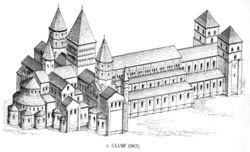 Reconstitution de l'abbatiale de Cluny III