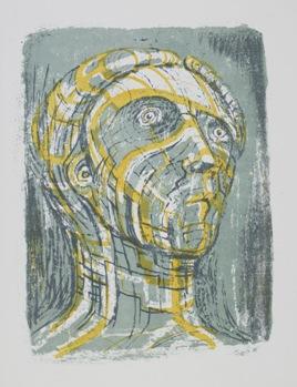 Henry Moore, Tête de Prométhée, 1950