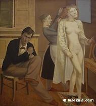 Balthus, La toilette de Cathy, 1933, Huile sur toile