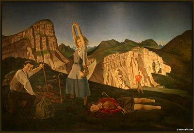 Balthus, La montagne, 1937, Huile sur toile