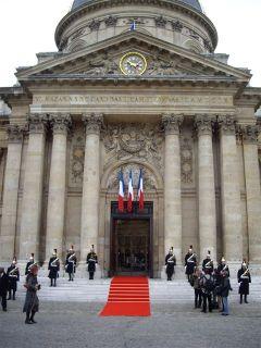 La grande porte de la Coupole de l'Institut de France le 31 janvier 2008