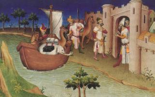 Illustration du livre le Devisement du monde, BNF