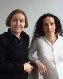 Hélène Durand et Véronique Marchal, professeurs des écoles (de gauche à droite)