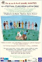 l'affiche du festival latin-grec, dessinée par le général PM Gallois