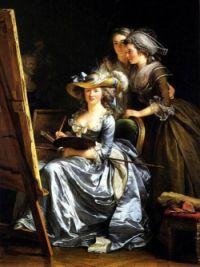 Autoportrait avec deux élèves, Mademoiselle Gabrielle Capet and Mademoiselle Carreaux de Rosemond, 1785